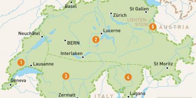 Harta Elvetia Elvetia Harta Europa De Vest Europa
